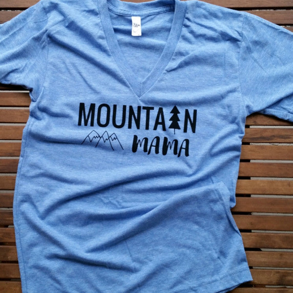 Mountain Mama adult unisex v-neck tee