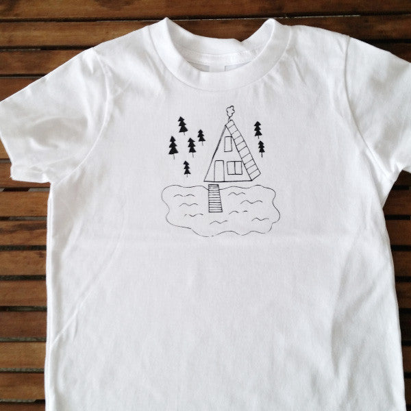 Cabin on the Lake kids' tee
