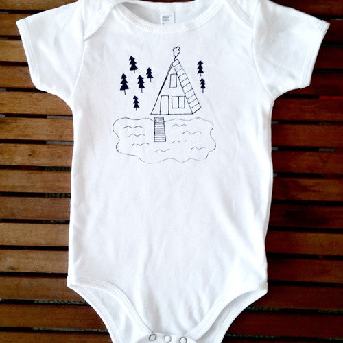 Cabin on the Lake short sleeve onesie