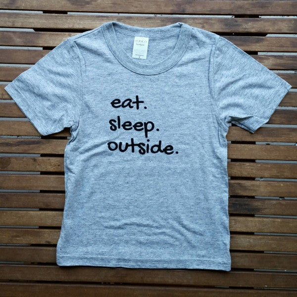 Eat Sleep Outside bamboo kids' tee