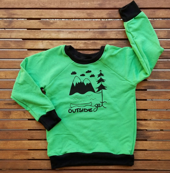 Get Outside handmade bamboo blend kids' sweatshirt