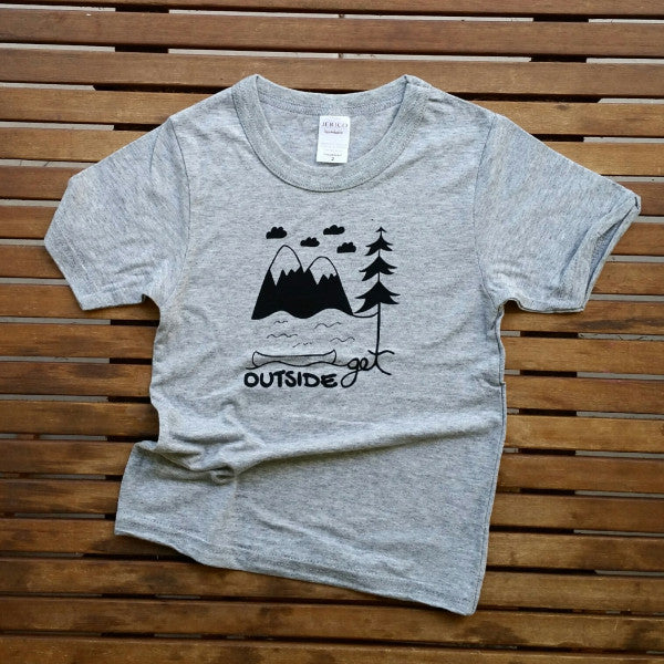 Get Outside bamboo kids' tee