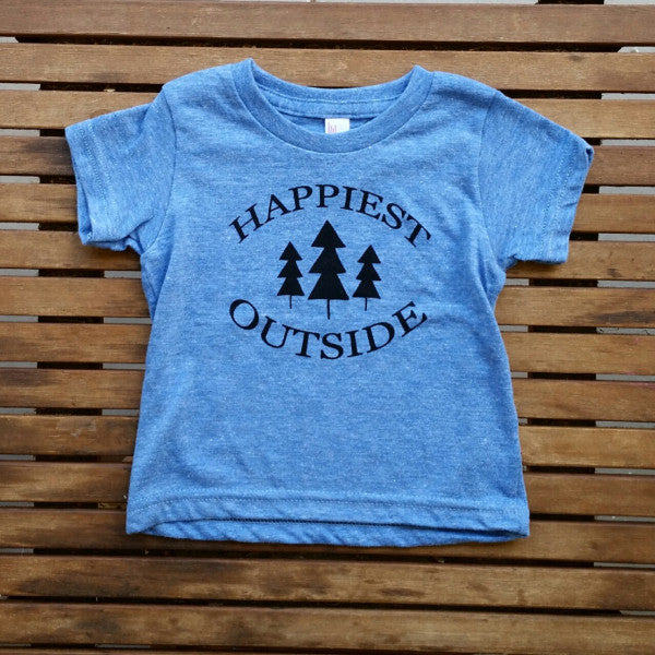 Happiest Outside short sleeve infant tee