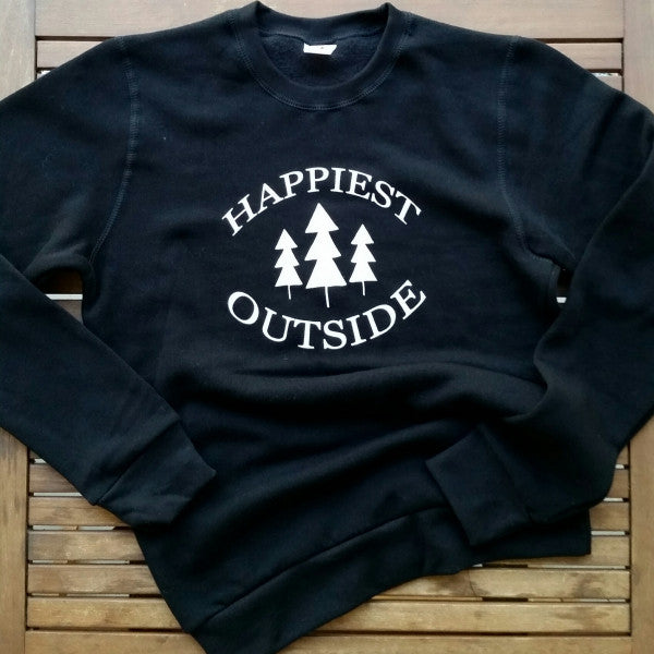 Happiest Outside adult unisex bamboo sweatshirt