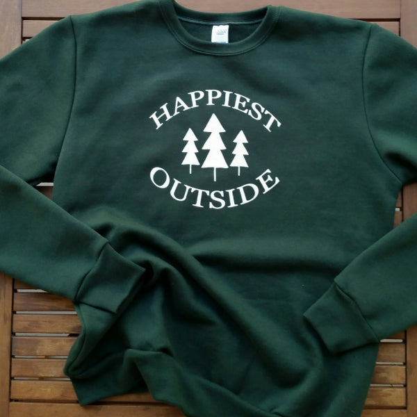 Happiest Outside adult unisex sweatshirt