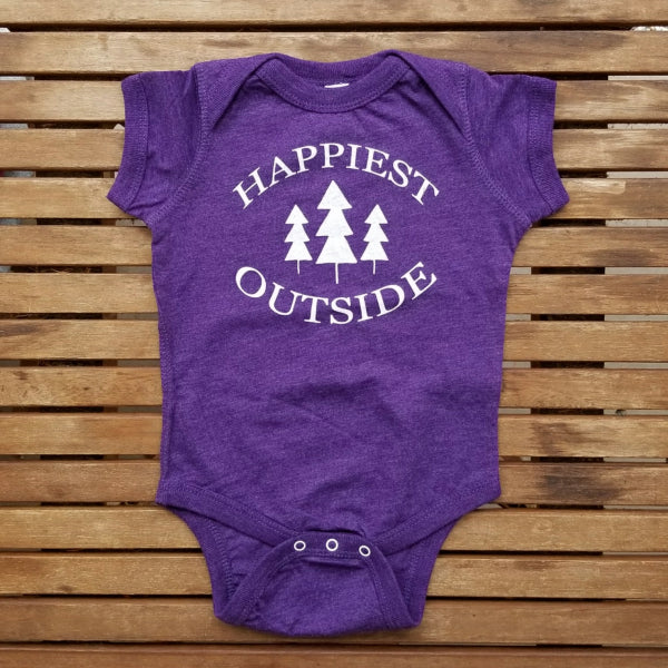 Happiest Outside short sleeve onesie - new style