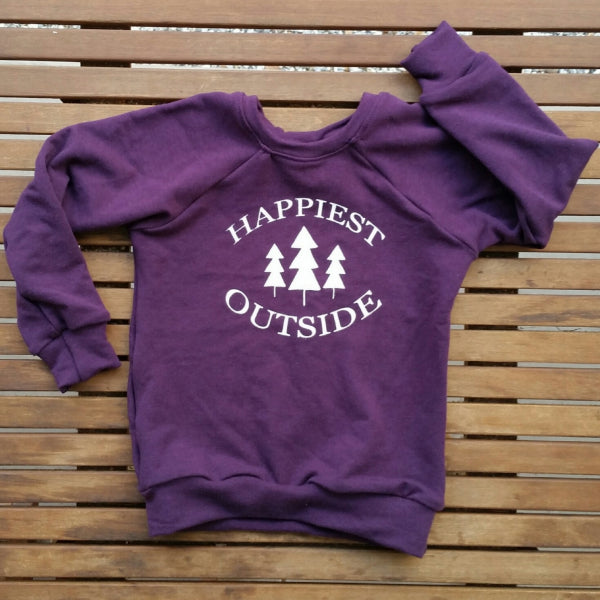 Happiest Outside handmade bamboo blend kids' sweatshirt