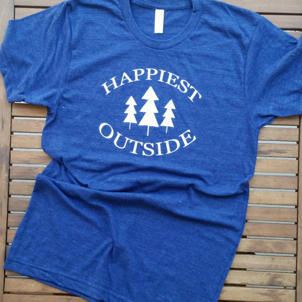 Happiest Outside adult unisex tee