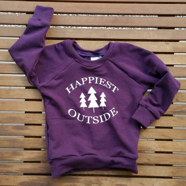 Happiest Outside handmade bamboo blend infant sweatshirt