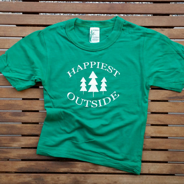 Happiest Outside bamboo kids' tee