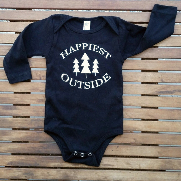 Happiest Outside long sleeve onesie