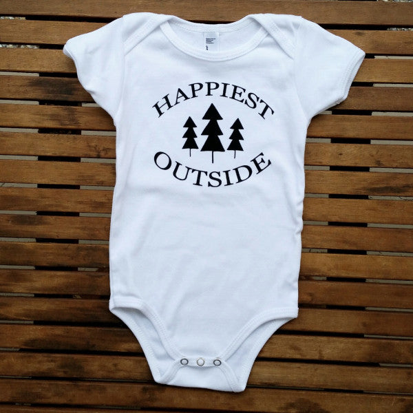 Happiest Outside short sleeve onesie
