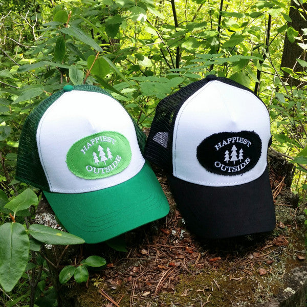 Adult trucker hat - Happiest Outside