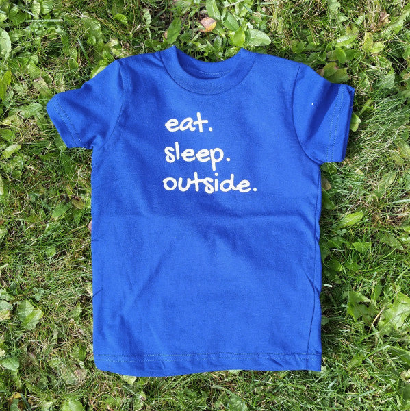 Eat Sleep Outside kids' tee (sizes 6 & 8 left)