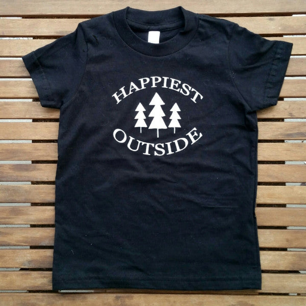 Happiest Outside kids' tee