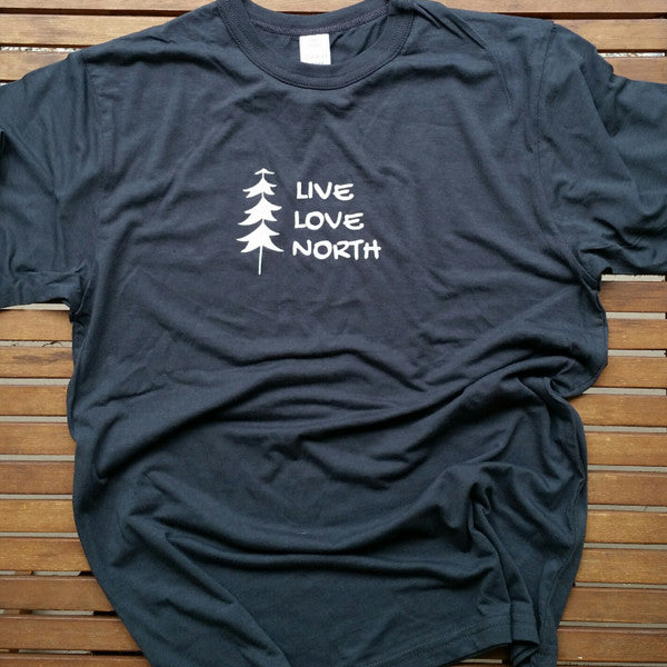 Live Love North adult unisex bamboo tee