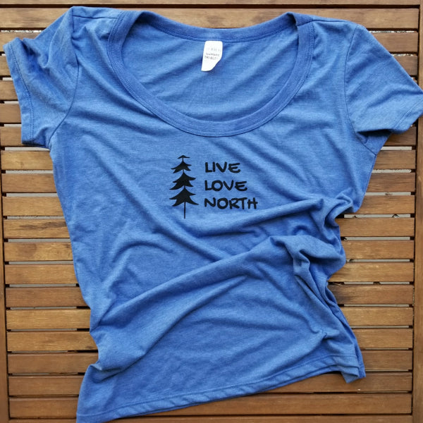 Live Love North ladies bamboo triblend flowy tee