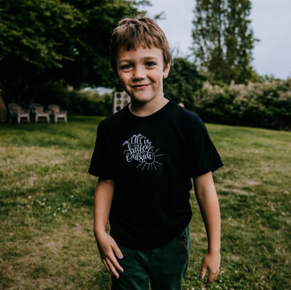 Life is Better Outside bamboo kids' tee