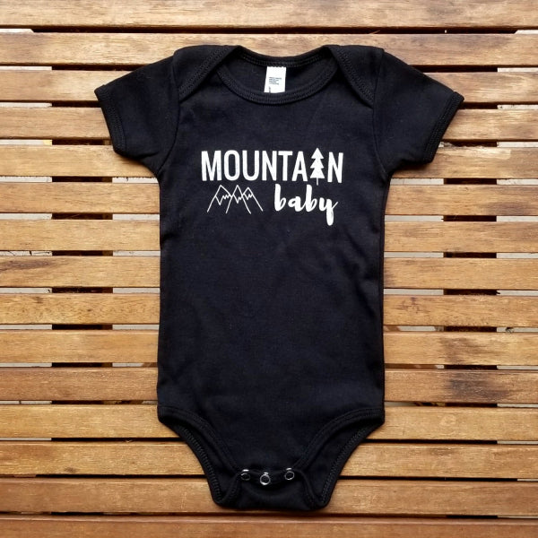 Mountain Baby short sleeve onesie