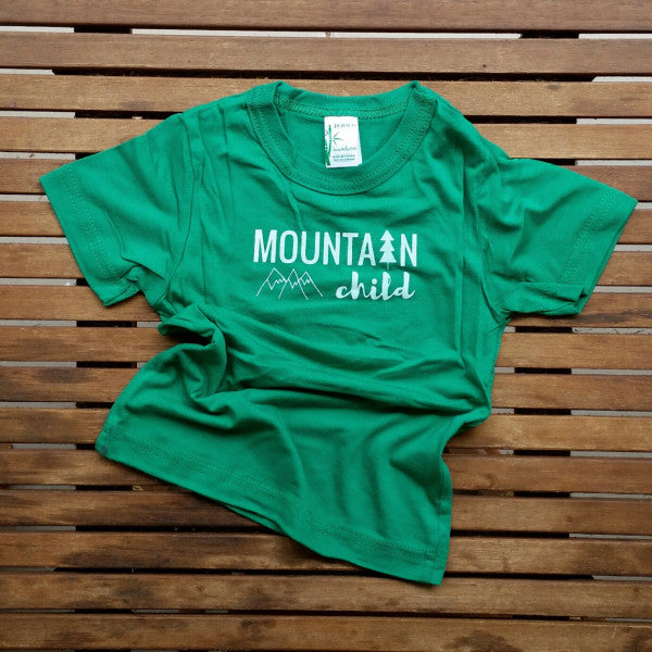 Mountain Child bamboo kids' tee