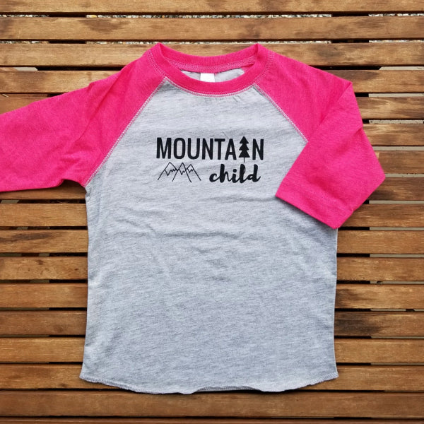 Mountain Child kids' raglan baseball tee