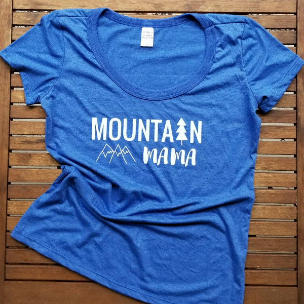 Mountain Mama ladies bamboo triblend flowy tee