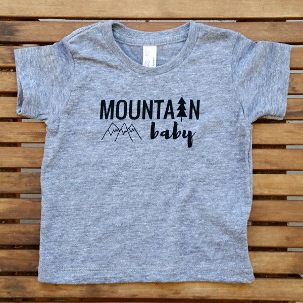 Mountain Baby short sleeve infant tee