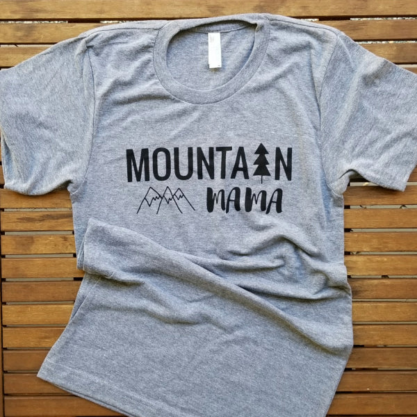 Mountain Mama adult unisex triblend tee