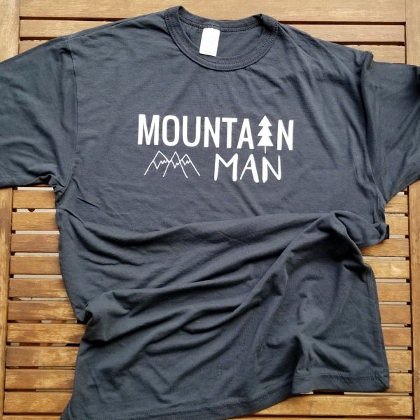 Mountain Man adult unisex bamboo tee