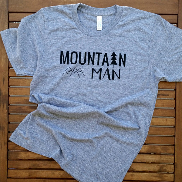 Mountain Man adult unisex tee