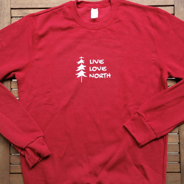 Live Love North adult unisex bamboo sweatshirt