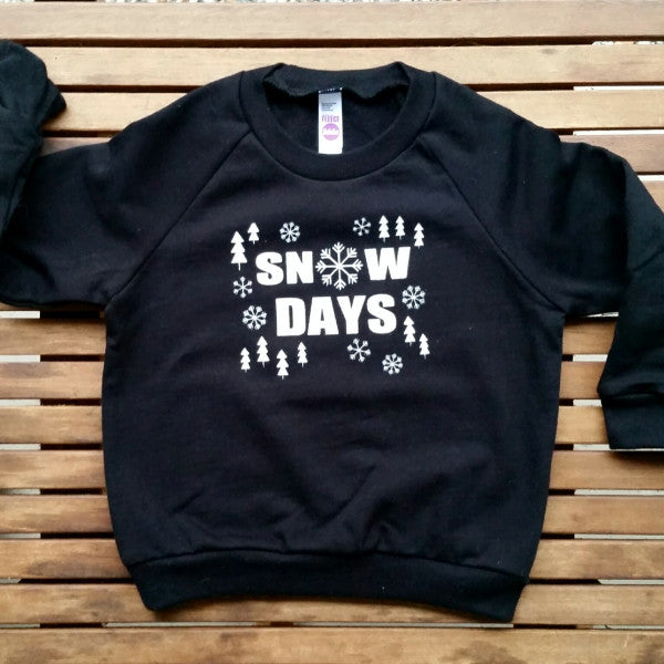 Snow Days kids' raglan fleece sweatshirt