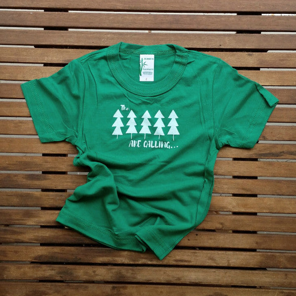 The Trees are Calling bamboo kids' tee