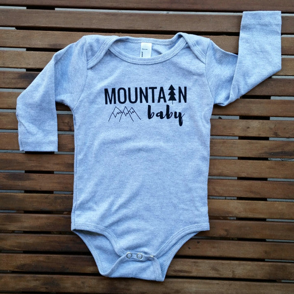Mountain Baby long sleeve onesie