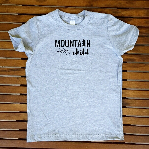 Mountain Child kids' tee (sizes 6 & 8 only)
