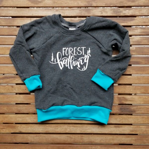 Forest Bathing handmade bamboo blend infant sweatshirt