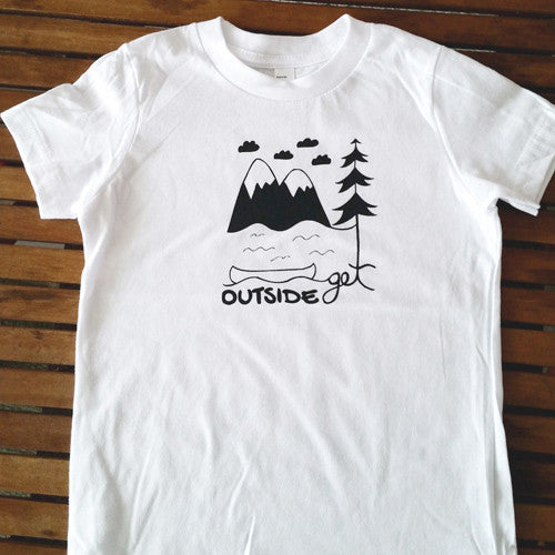 Get Outside kids' tee (size 2 & 8 only)