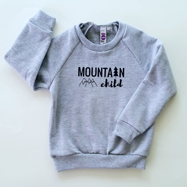 Mountain Child kids' raglan fleece sweatshirt