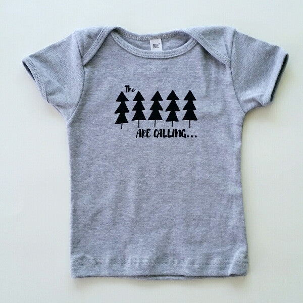 The Trees are Calling short sleeve onesie