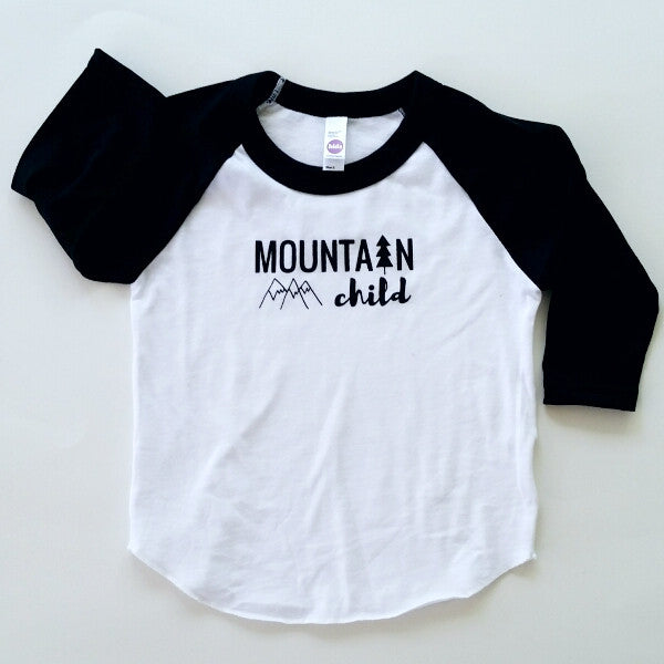 Mountain Child kids' raglan baseball tee (old style)