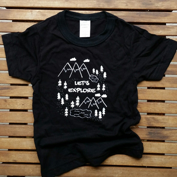 Let's Explore bamboo kids' tee