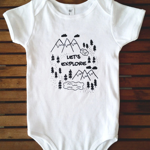 Let's Explore short sleeve onesie