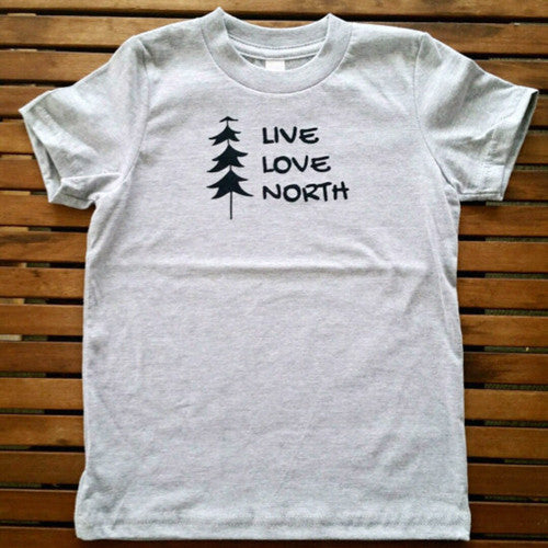 Live Love North kids' tee