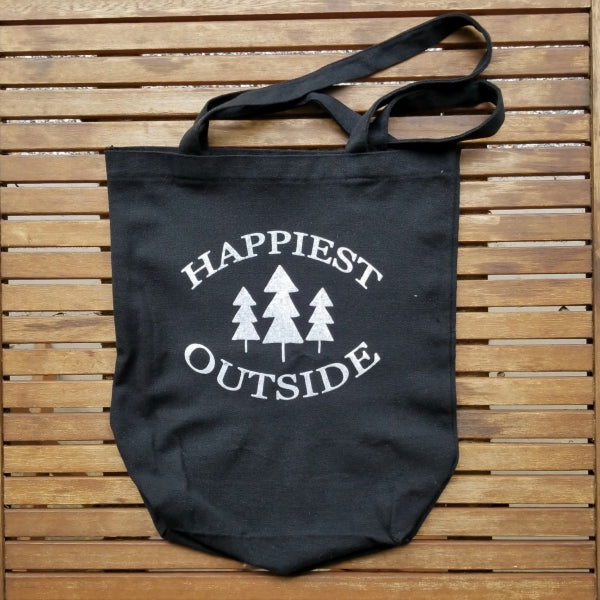 Happiest Outside tote