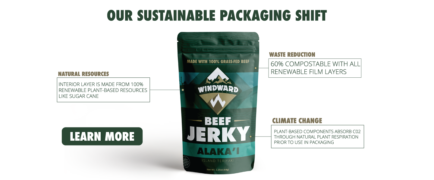 Windward Jerky Sustainable Packaging