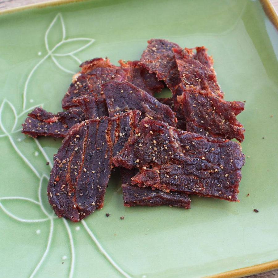 Gaia (Peppered Garlic Herb Grass-fed Beef Jerky)