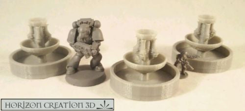 Fountain 3 Pack 32mm Tall