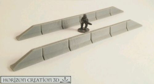 Jersey Barriers Plain - 12 Pack - 15mm SCALE