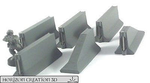 Jersey Barriers Linked - 6 Pack