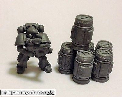 Tech Canisters 20mm Tall 6 Pack